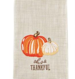 Mud Pie Mud Pie - Embroidered Pumpkin Towel - Thankful