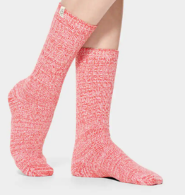 UGG - Rib Knit Slouchy Crew Sock Red