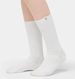 UGG UGG - Rib Knit Slouchy Crew Sock White