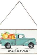 Rustic Marlin Rustic Marlin - Mini Plank Welcome Harvest Truck with Pumpkins