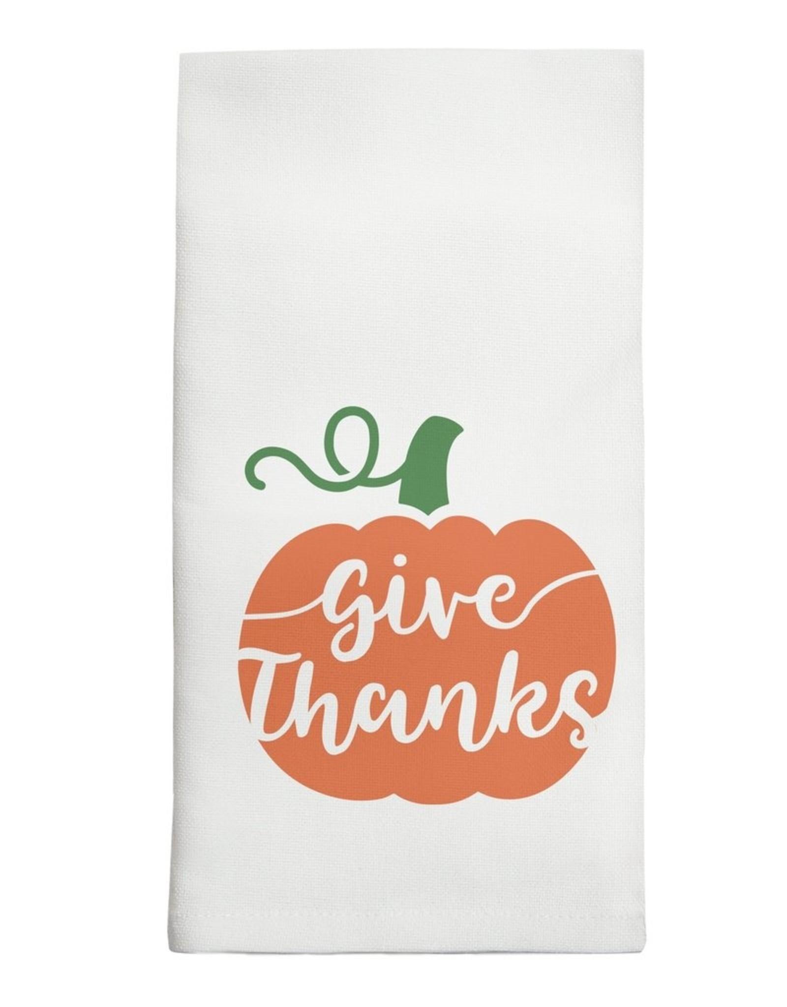 Marshes, Fields & Hills - Tea Towel Give Thanks Pumpkin
