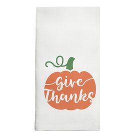 Marshes, Fields & Hills - Tea Towel Give Thanks Pumpkin