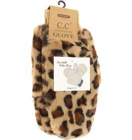 C.C. Beanie C.C. - Leopard Faux Fur Mitten Glove - Latte