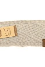 C.C. Beanie C.C. - Diagonal Criss-Cross Patterned Head Wrap