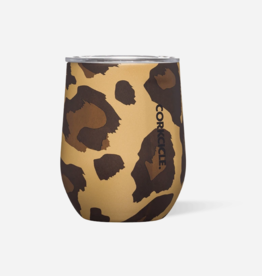 Corkcicle Corkcicle - 12oz Stemless Luxe Leopard