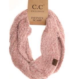 C.C. Beanie C.C. - Chenille Knit Infinity Scarf - Rose