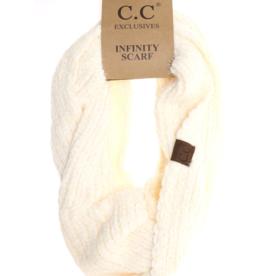 C.C. Beanie C.C. - Chenille Knit Infinity Scarf - Ivory