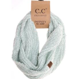 C.C. Beanie C.C. - Chenille Knit Infinity Scarf - Mint