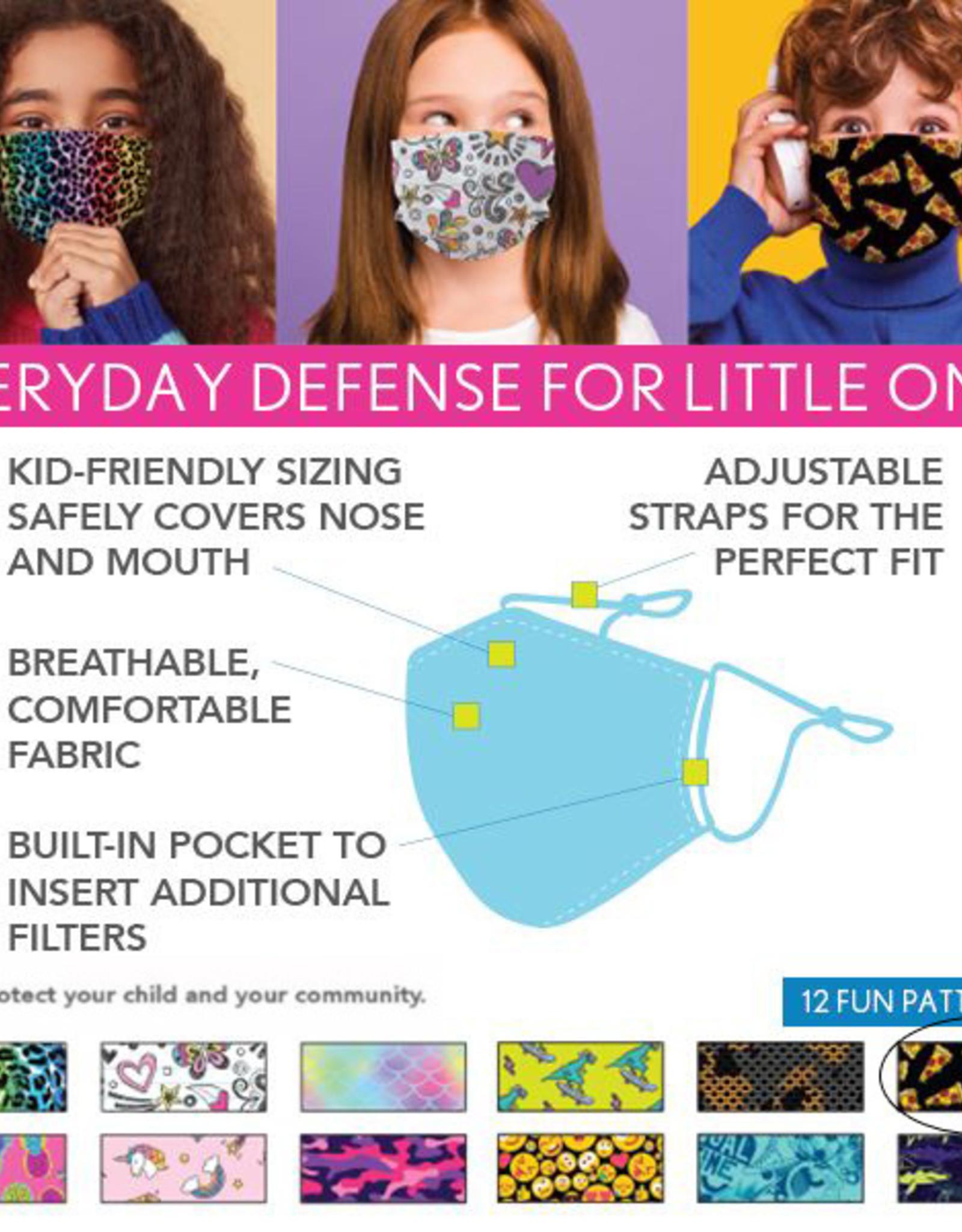 DM Merchandising Cotton Face Masks - Kids - Pizza