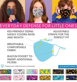 DM Merchandising Cotton Face Masks - Kids - Pizza