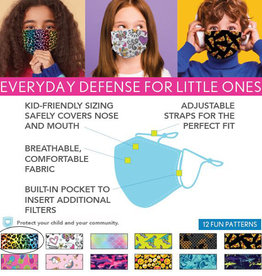 DM Merchandising Cotton Face Masks - Kids - Multi Leopard
