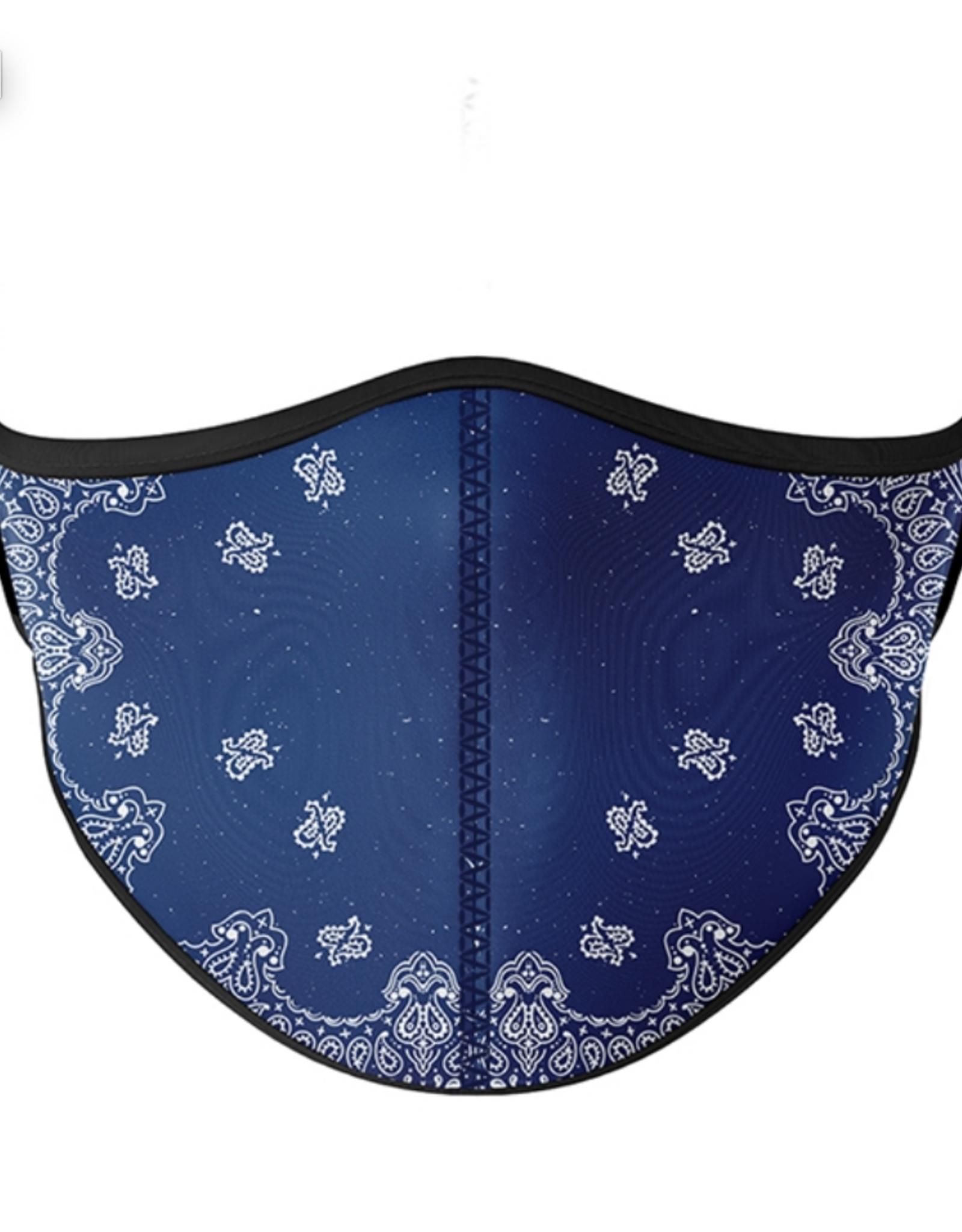 Top Trenz Top Trenz - Medium Size - Blue Bandana Mask