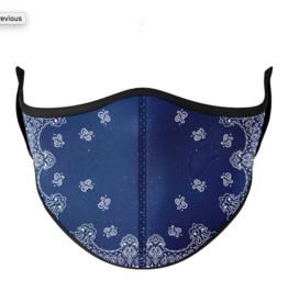 Top Trenz Top Trenz - Masks - Large Size - Navy Bandana
