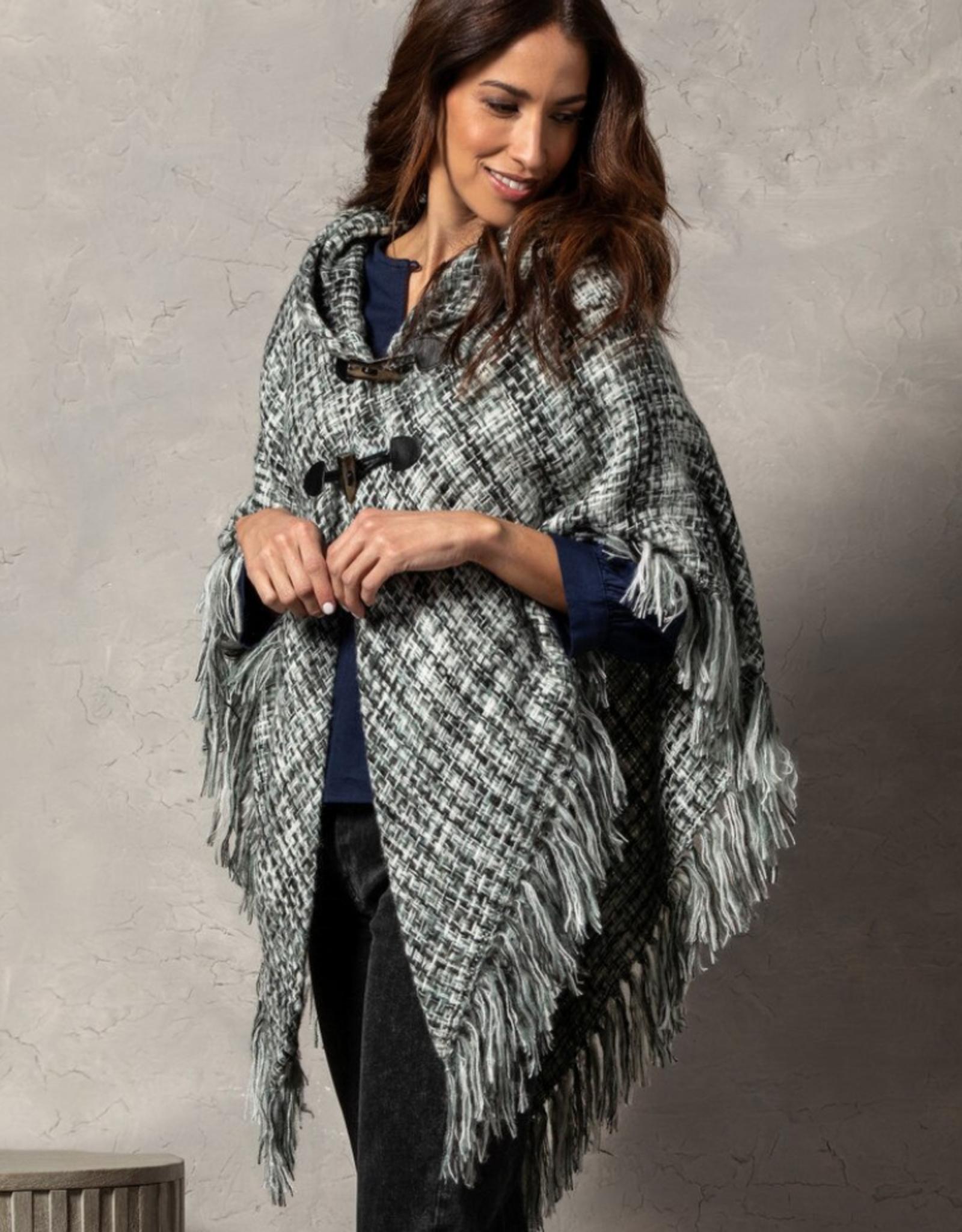 Demdaco - Tweed Toggle Wrap - Gray