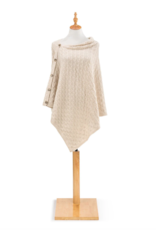 Demdaco - Knit Button Poncho