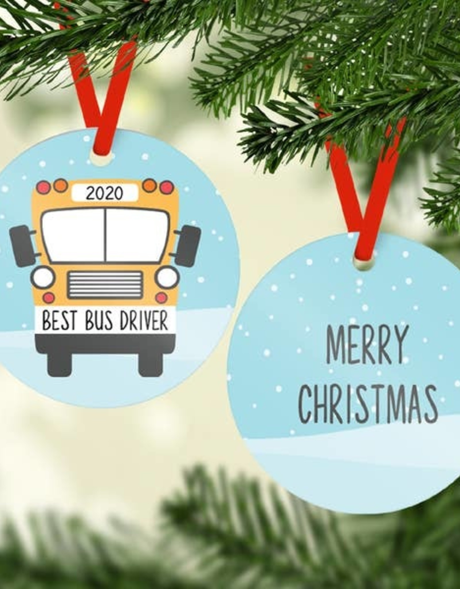 Rubi and Lib - Bus Driver Ornament