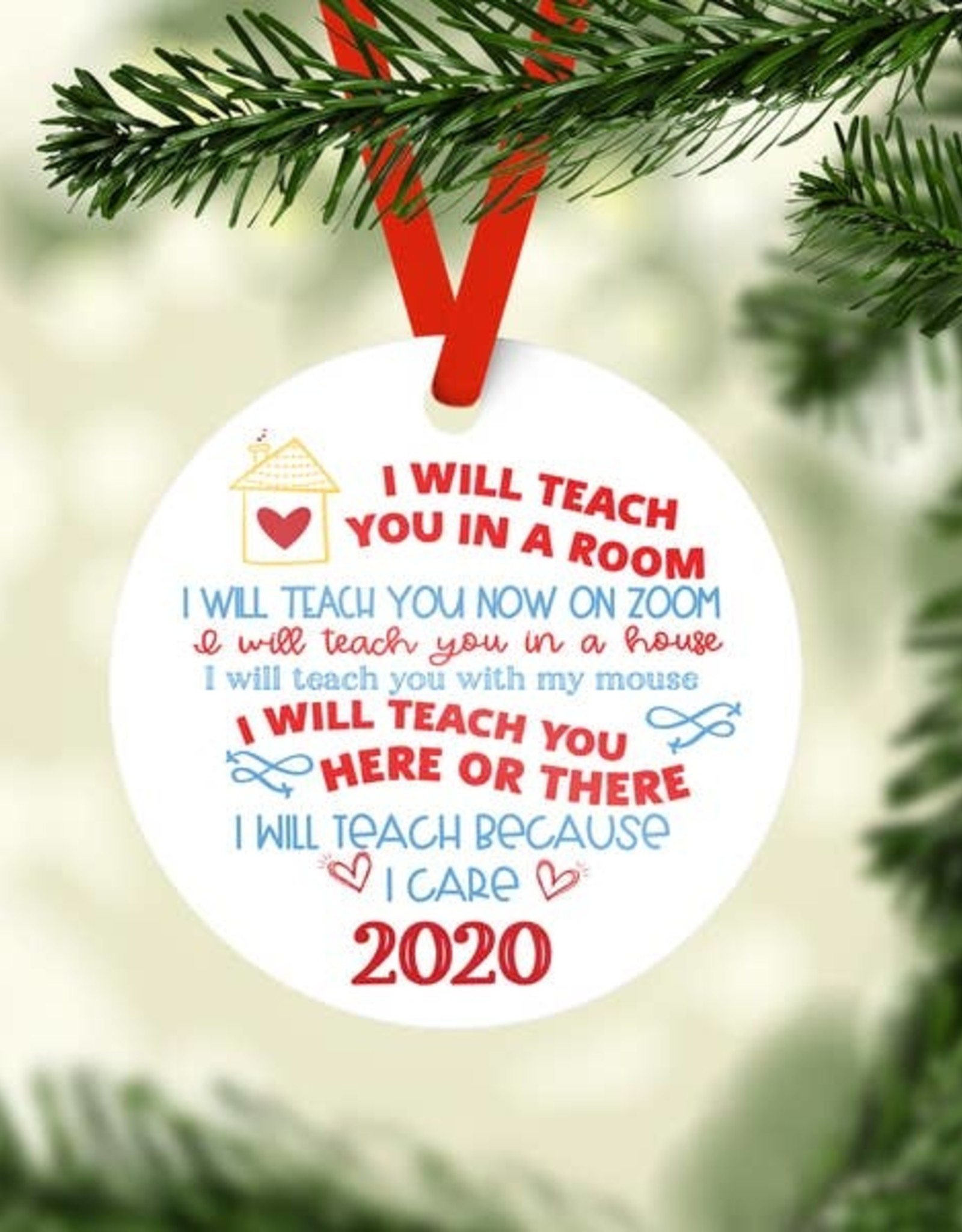 Rubi and Lib - I Will Teach You Here or There Ornament