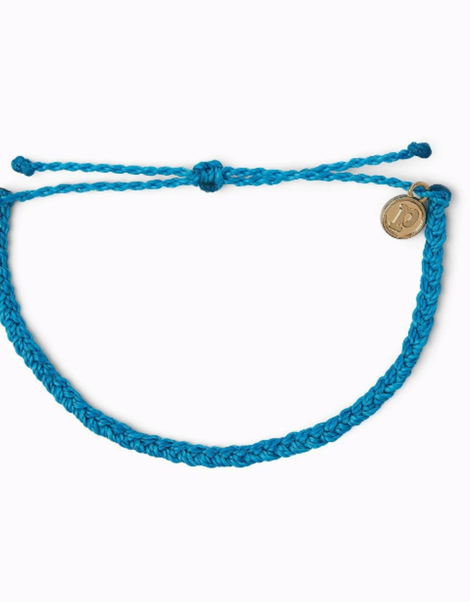 Pura Vida Pura Vida - Mini Braided Neon Blue Bracelet