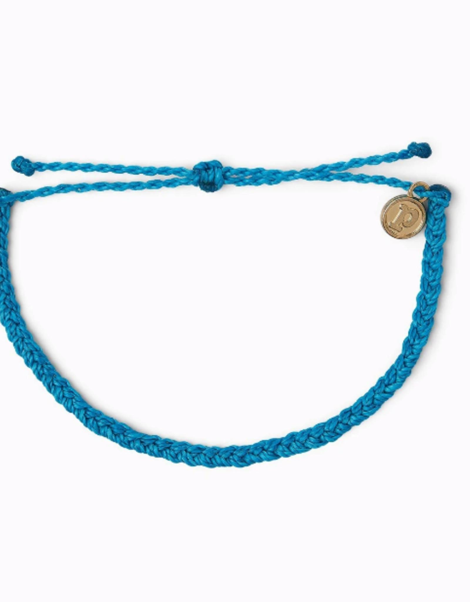 Puravida Puravida - Mini Braided Neon Blue Bracelet