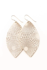 Keva - Earrings Starburst Platinum