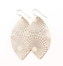 Keva - Earrings Starburst Platinum