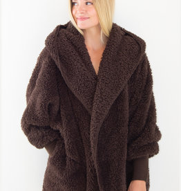 Nordic Beach Nordic Beach - Cozy Cardigan Dark Chocolate
