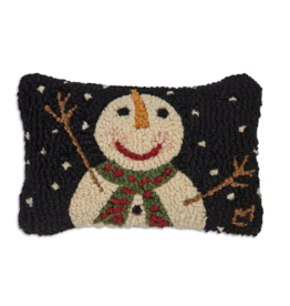 "Chandler 4 Corner - Cheers Snowman Flake 8"" x 12"" Pillow"