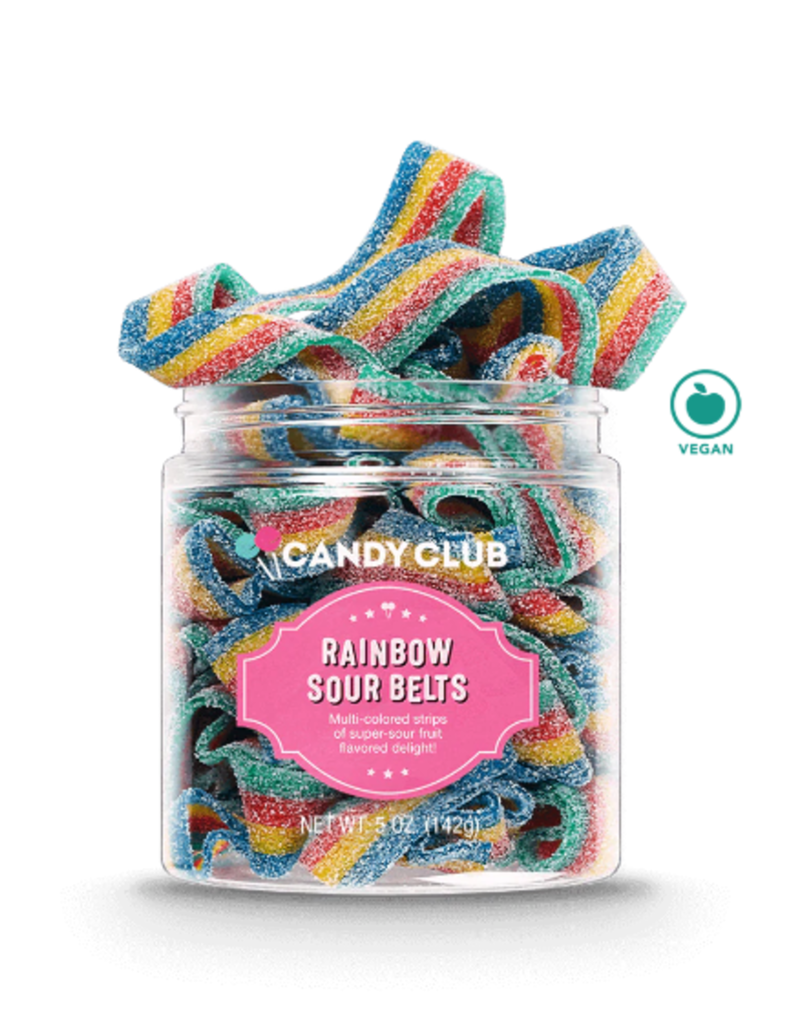 Candy Club Candy Club - Rainbow Sour Belts