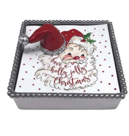 Mariposa Mariposa - Santa Hat Beaded Napkin Box