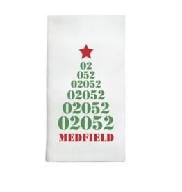 Marshes, Fields & Hills - 02052 Christmas Tree Image Tea Towel
