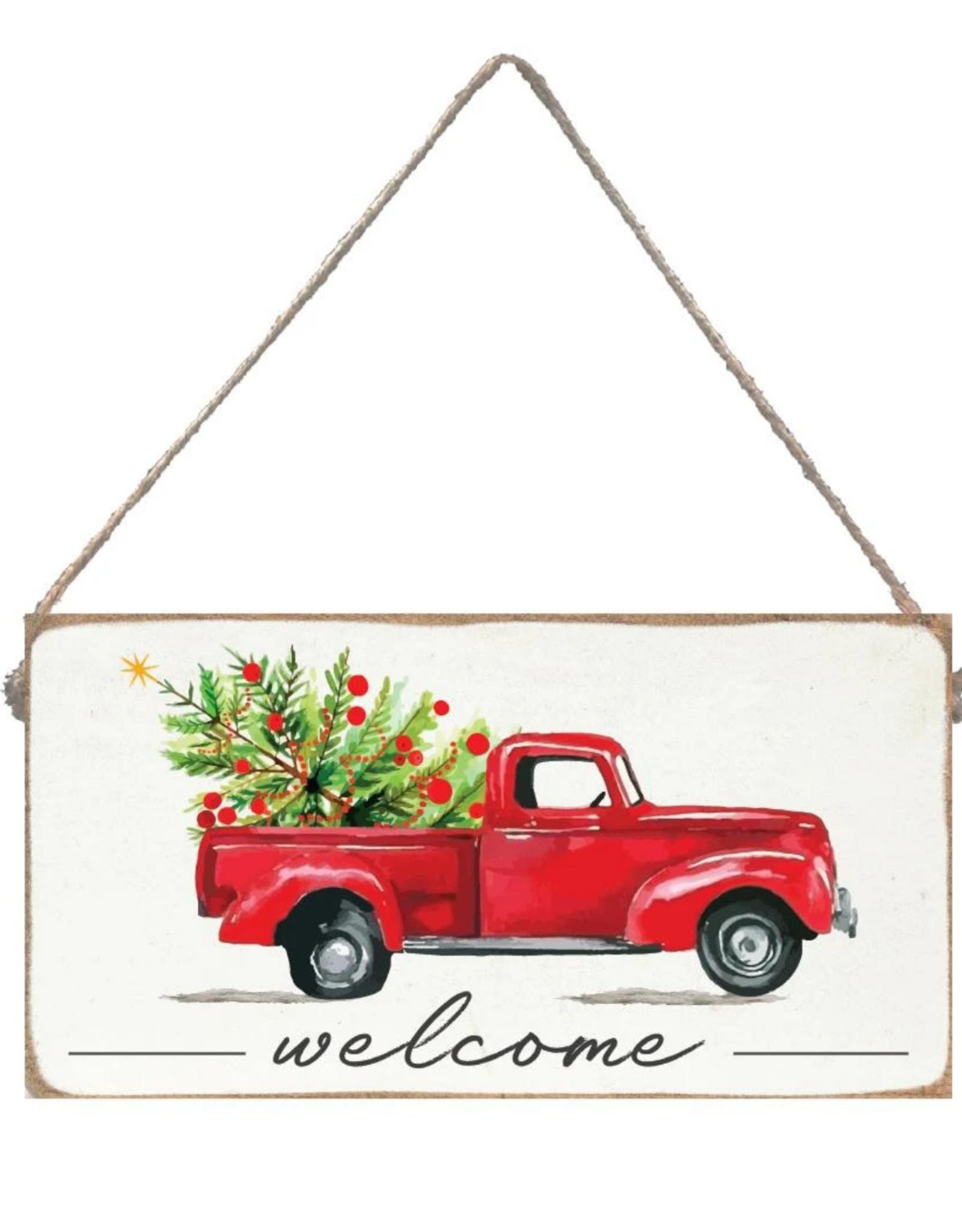 Rustic Marlin Rustic Marlin - Welcome Christmas Truck Mini Plank