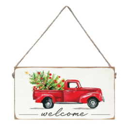 Rustic Marlin Rustic Marlin - Welcome Christmas Truck Mini Plank