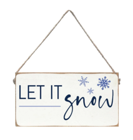 Rustic Marlin Rustic Marlin - Mini Plank - Let It Snow