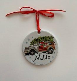 PhiloSophie's - Santa in Woodie Millis Ornament