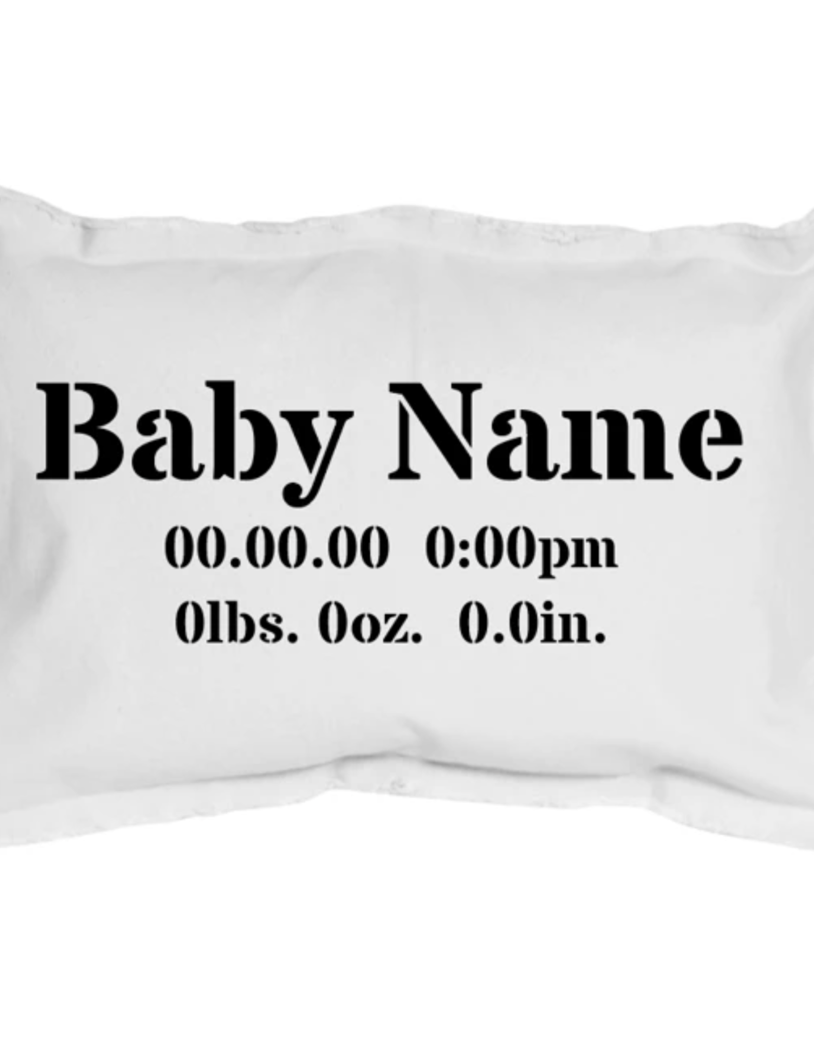 Rustic Marlin Rustic Marlin - Personalized Baby Birth Announcement Pillow