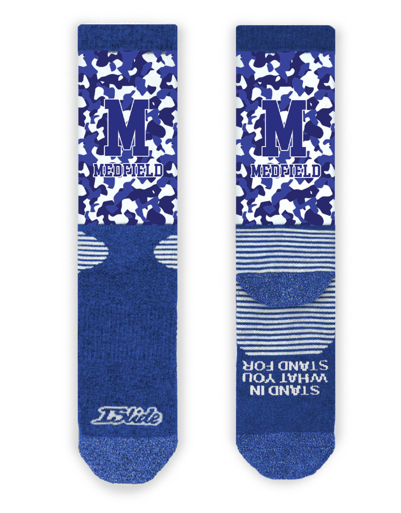 Islide Islide - Medfield Royal Blue Camo Socks