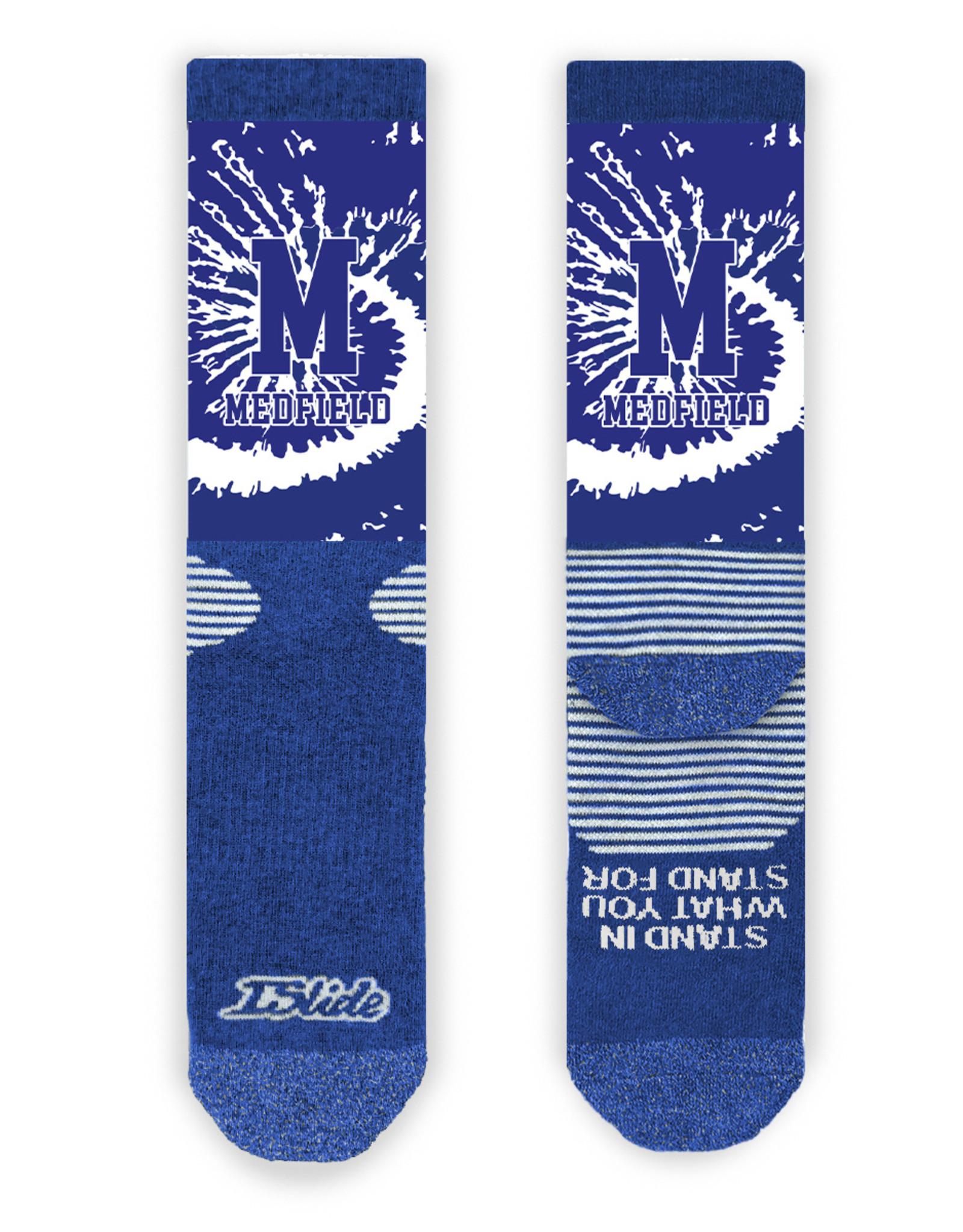 Islide Islide - Medfield Tie Dye Socks Royal Blue Socks