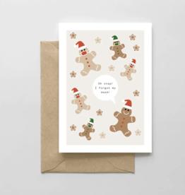 Spaghetti & Meatballs - Gingerbread Masks Card