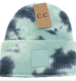 C.C. Beanie C.C. - Tie Dye Beanie W/Rubber Patch
