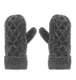 Pudus - Mittens Cable Knit Grey