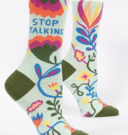 Blue Q Blue Q - Crew Socks Stop Talking