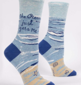 Blue Q Blue Q - Crew Socks The Ocean Just Gets Me