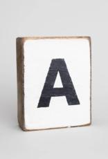 Rustic Marlin Rustic Marlin Wooden Block Letters A - Z
