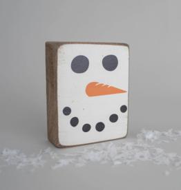 Rustic Marlin Rustic Marlin - Wood Block Snowman Face