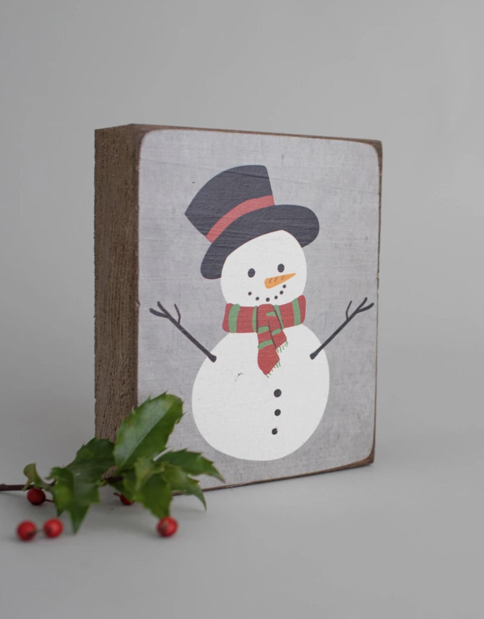 Rustic Marlin Rustic Marlin - Symbol Blocks Snowman