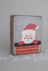 Rustic Marlin Rustic Marlin - Symbol Blocks Peeking Santa