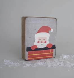 Rustic Marlin Rustic Marlin - Symbol Blocks Peeking Santa