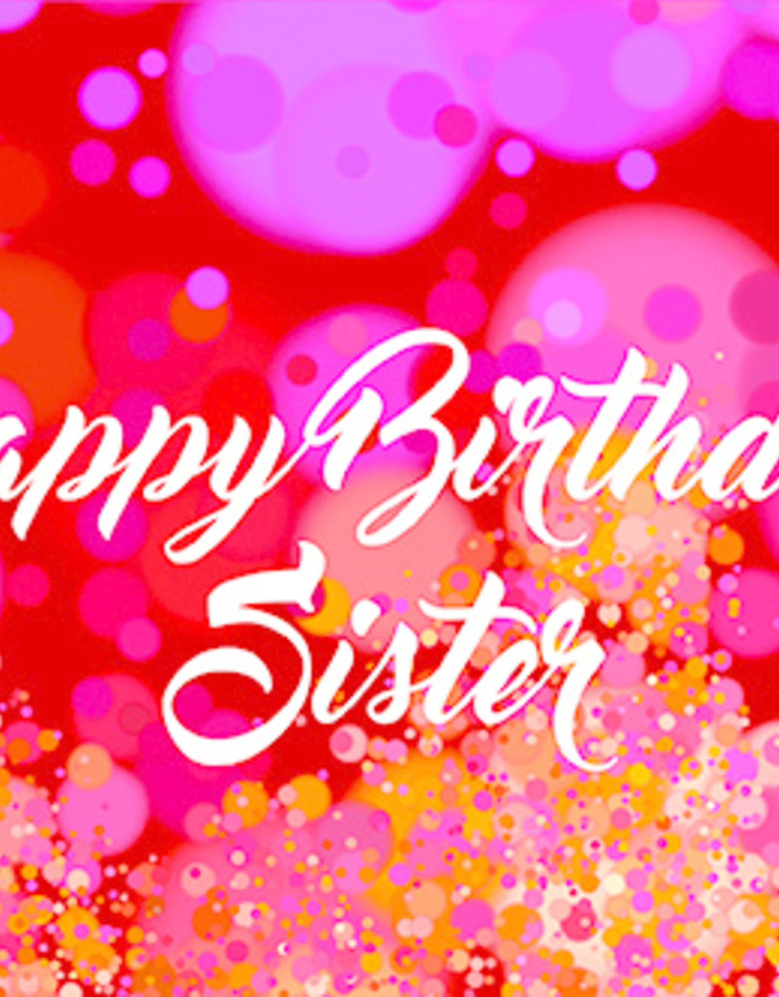 Pictura Pictura - Sister Birthday Card 60385