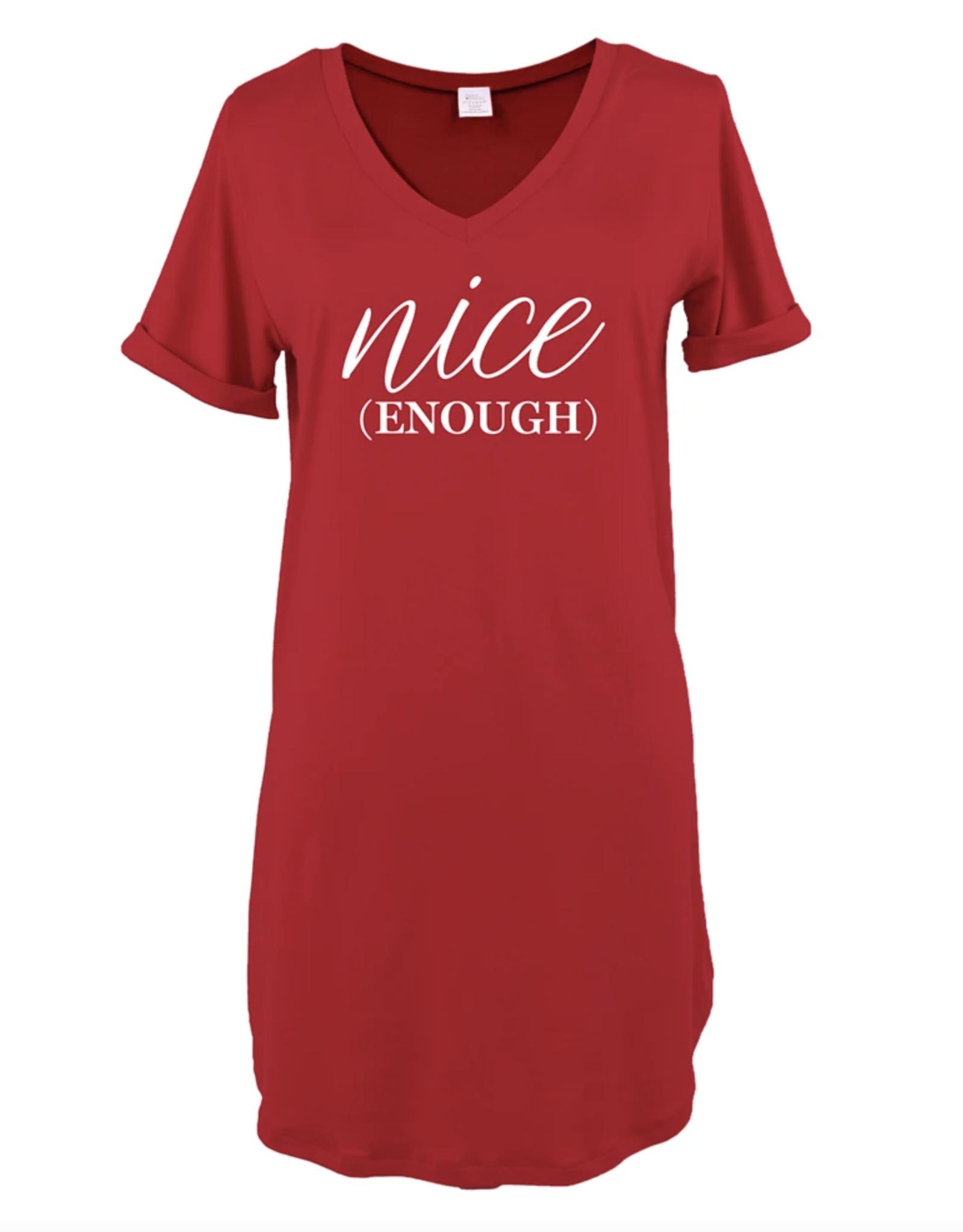 Hello Mello - Holiday V Neck Sleep Shirt