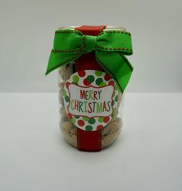 Oh Sugar! - 5oz Jar Choc Chip Cookies - Merry Christmas